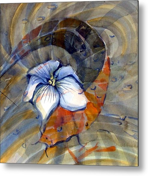Flower Metal Print featuring the painting White Magnolia by Mindy Newman
