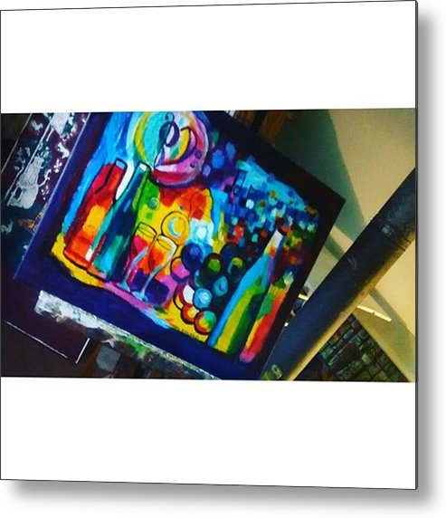 Art Metal Print featuring the photograph Worked On A New Painting Today For My by Genevieve Esson