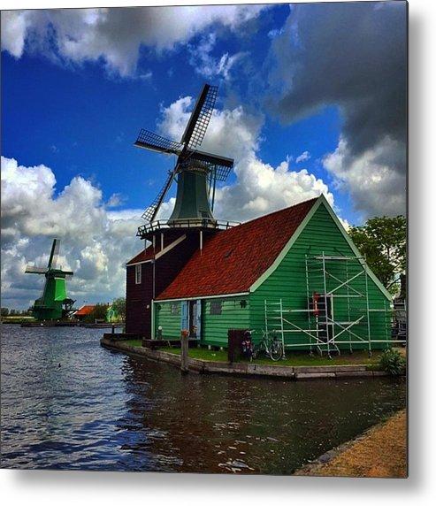 Outdoor Metal Print featuring the photograph Zaanseschans #holland #neederlands by Luisa Azzolini