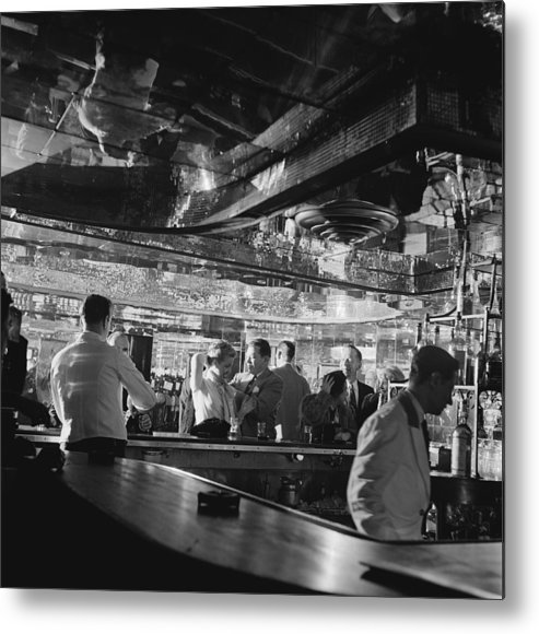 Latin Quarter Metal Print featuring the photograph Latin Quarter Bar by Graphic House