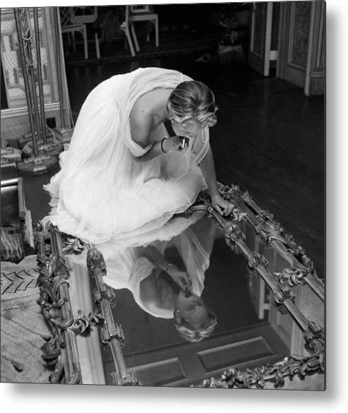 People Metal Print featuring the photograph Make Up Mirror by Thurston Hopkins