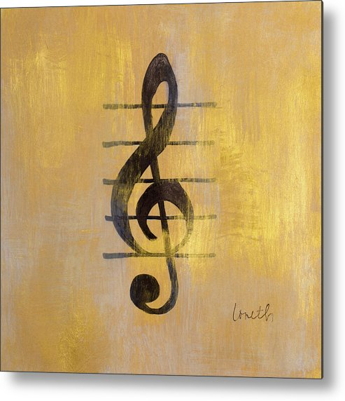 Treble Metal Print featuring the painting Treble Clef by Lanie Loreth