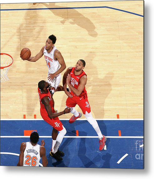 Nba Pro Basketball Metal Print featuring the photograph Houston Rockets V New York Knicks by Nathaniel S. Butler
