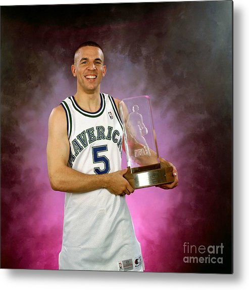 Nba Pro Basketball Metal Print featuring the photograph 1995 Nba Rookie Of The Year - Jason Kidd by Lou Capozzola