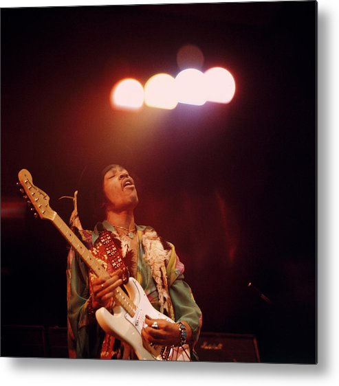 Music Metal Print featuring the photograph Photo Of Jimi Hendrix by David Redfern
