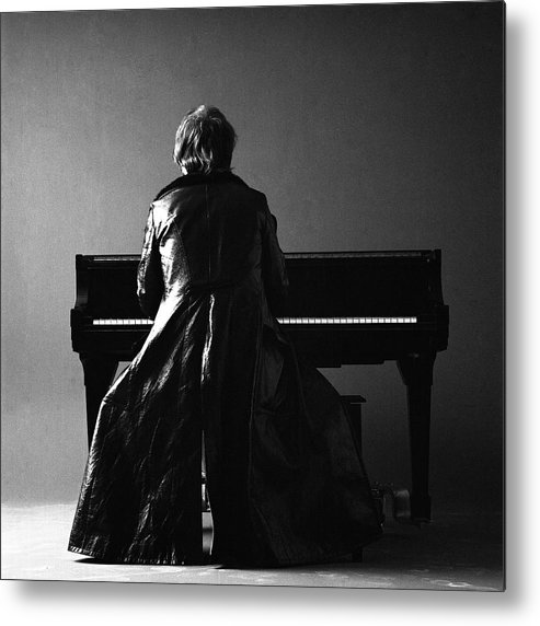 Piano Metal Print featuring the photograph Portrait Of Elton John by Jack Robinson