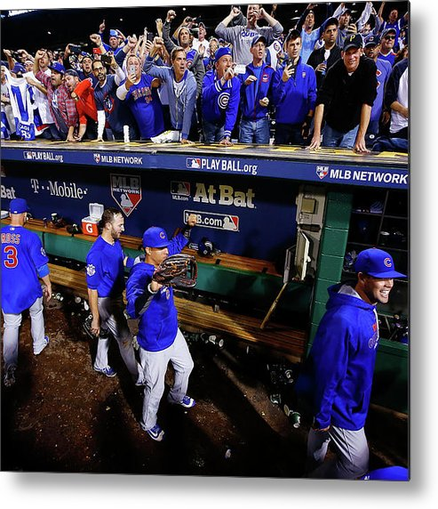 Playoffs Metal Print featuring the photograph Wild Card Game - Chicago Cubs V by Jared Wickerham