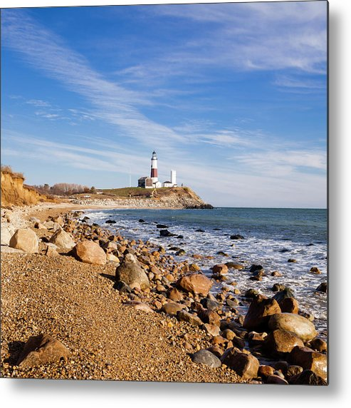 Headland Metal Print featuring the photograph Lighthouse At Montauk Point, Long by Alex Potemkin
