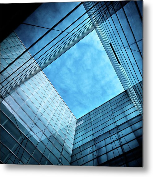 Office Metal Print featuring the photograph Modern Glass Architecture by Nikada