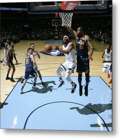 Nba Pro Basketball Metal Print featuring the photograph Utah Jazz V Memphis Grizzlies by Joe Murphy