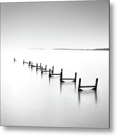 Tranquility Metal Print featuring the photograph Abandond Jetty by Photography By Azrudin