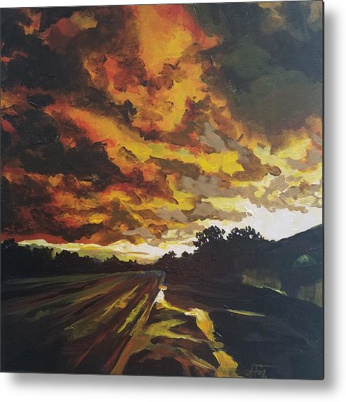 Storm Metal Print featuring the painting After The Storm by Allison Fox