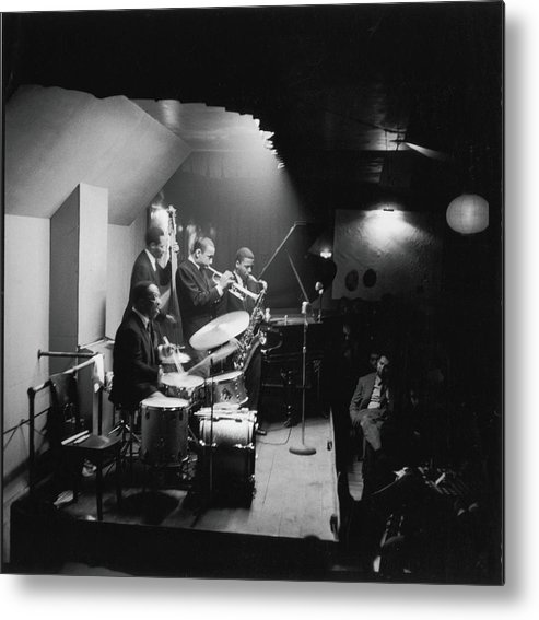 Shadow Metal Print featuring the photograph Art Blakeys Jazz Messengers Perform On by Fred W. McDarrah