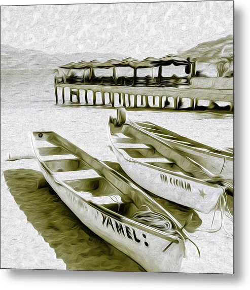 Pier Metal Print featuring the digital art At the PIer in Acapulco Mexico by Kenneth Montgomery