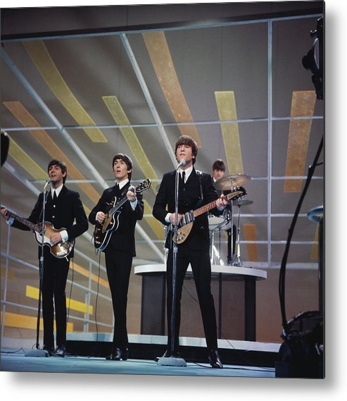 Singer Metal Print featuring the photograph Beatles On Us Tv by Paul Popper/popperfoto