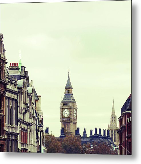 Clock Tower Metal Print featuring the photograph Big Ben As Seen From Trafalgar Square by Image - Natasha Maiolo