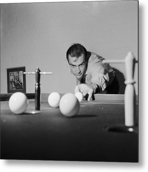 Sean Connery Metal Print featuring the photograph Billiard Bond by Chris Ware