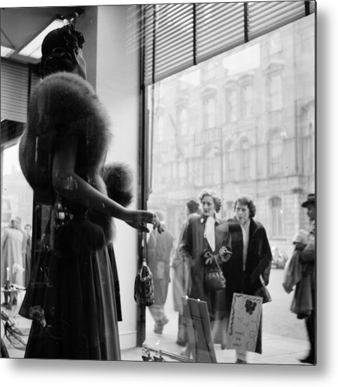 Cool Attitude Metal Print featuring the photograph Cardiff Shopping by Bert Hardy