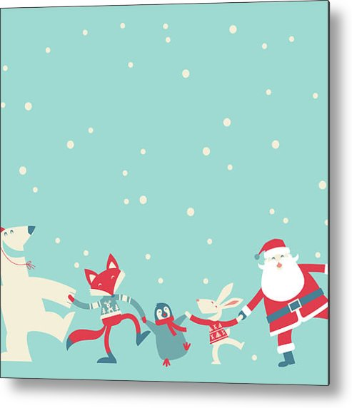 Holiday Metal Print featuring the photograph Christmas Dancing by Akindo