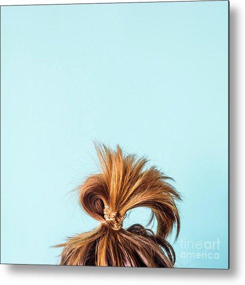 People Metal Print featuring the photograph Close-up Of Woman With Hair Bun by Valeriia Sviridova / Eyeem