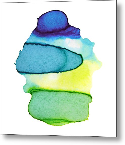 Watercolor Painting Metal Print featuring the digital art Colorful Watercolor Paint Paper Texture by 4khz