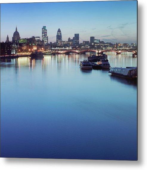 Blackfriars Bridge Metal Print featuring the photograph Dawn On The Thames Xxl by Beholdingeye