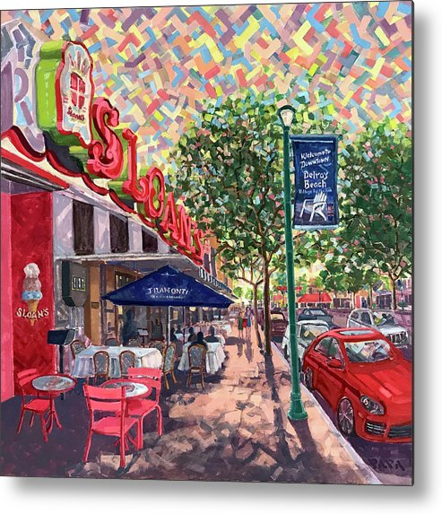 Sloan's Metal Print featuring the painting Delicious Delray by Ralph Papa
