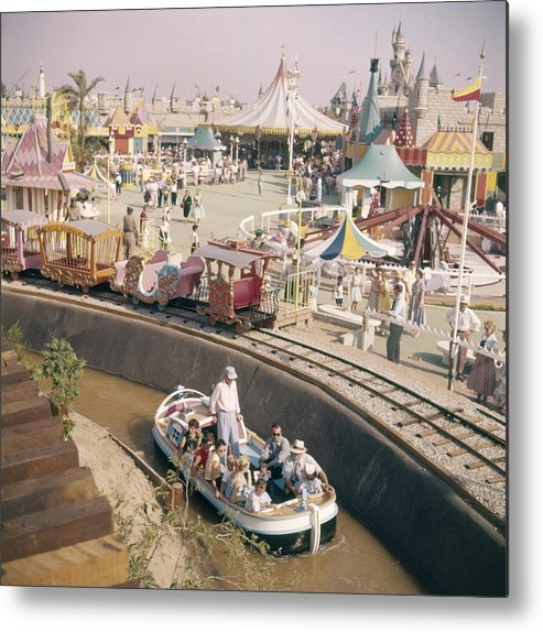 Timeincown Metal Print featuring the photograph Disneyland Opening, 1955 by Loomis Dean