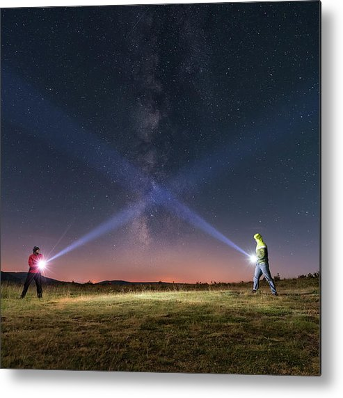 People Metal Print featuring the photograph Duel Of Light by Carlos Fernandez