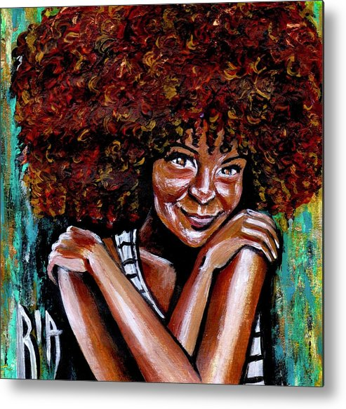 Love Metal Print featuring the painting Embraced by Artist RiA