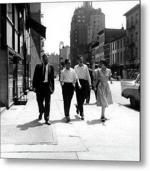 People Metal Print featuring the photograph Fancher, Wolf & The Tallmers In The by Fred W. McDarrah