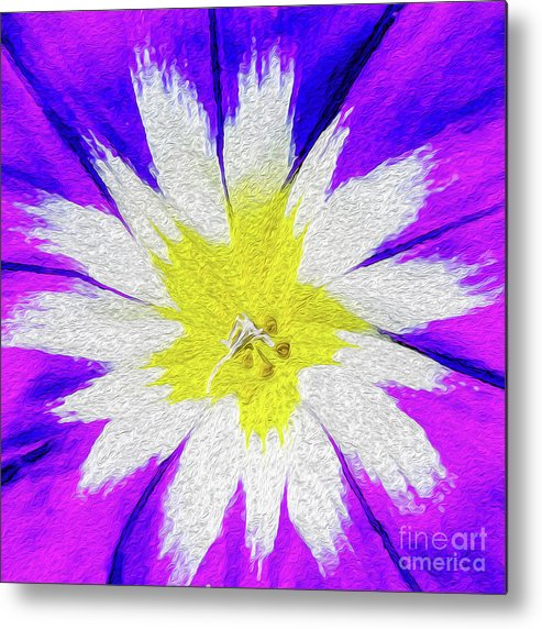 Flower Metal Print featuring the digital art Flower Burst by Kenneth Montgomery