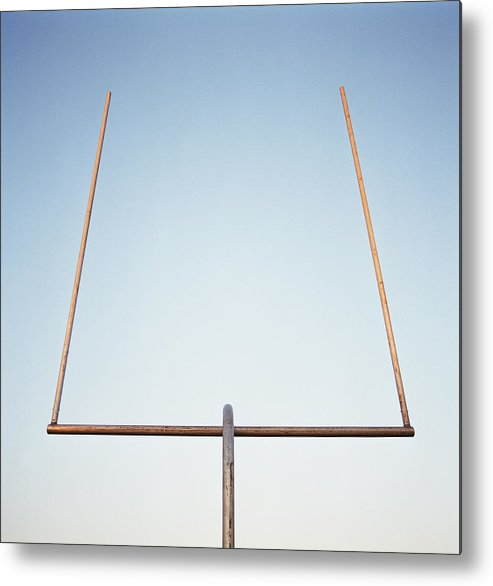 Goal Metal Print featuring the photograph Football Goal Post by Mike Powell