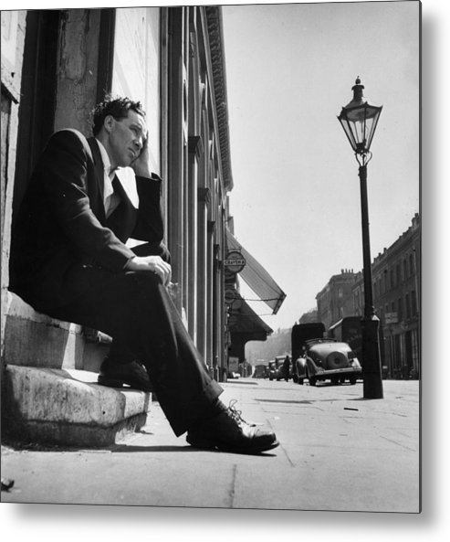 People Metal Print featuring the photograph Former Boxer by Bert Hardy