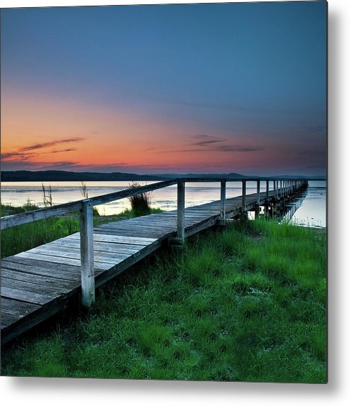 Tranquility Metal Print featuring the photograph Greener On The Other Side by Photography By Carlo Olegario