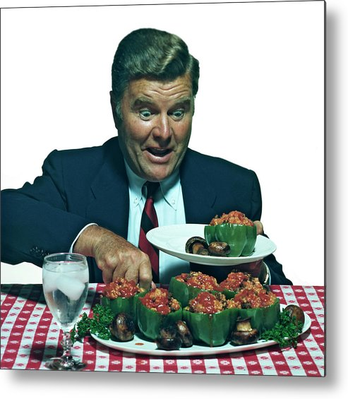 Stuffed Metal Print featuring the photograph His Favorite Meal by Tom Kelley Archive