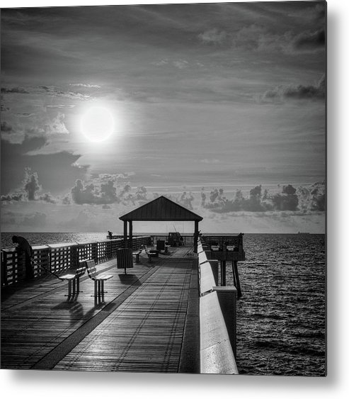 Sea Metal Print featuring the photograph Juno Pier Bright and Sunny by Steve DaPonte