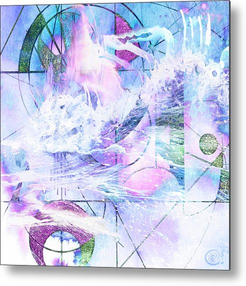 Kaleidoscope Metal Print featuring the mixed media Kaleidoscope Sea by Chris Cole