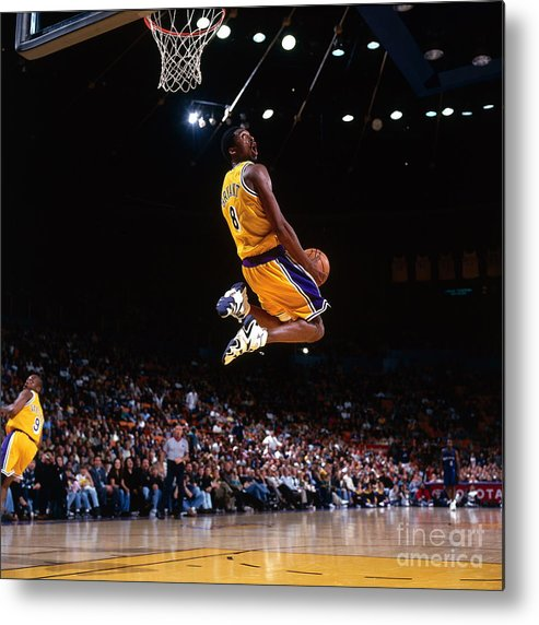 Nba Pro Basketball Metal Print featuring the photograph Kobe Bryant Action Portrait by Andrew D. Bernstein
