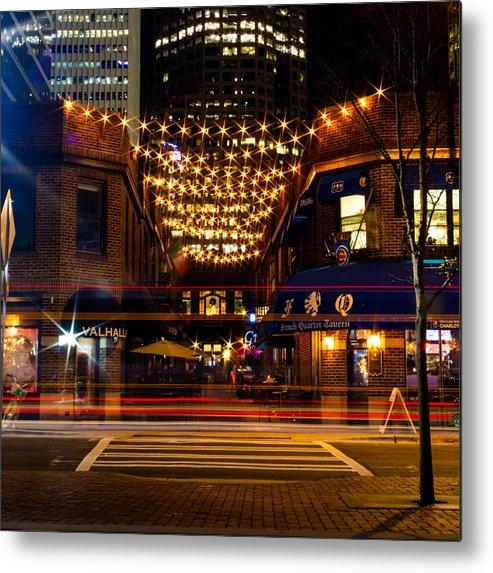 Latta Metal Print featuring the photograph Latta Arcade Light Trails by Christine Buckley