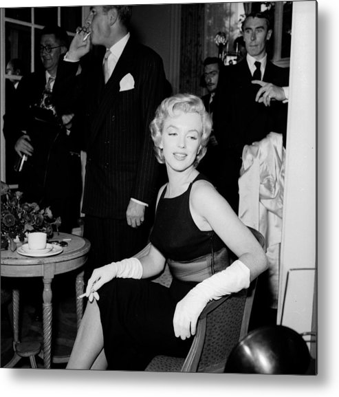 Corporate Business Metal Print featuring the photograph Laurence And Marilyn by Harry Kerr
