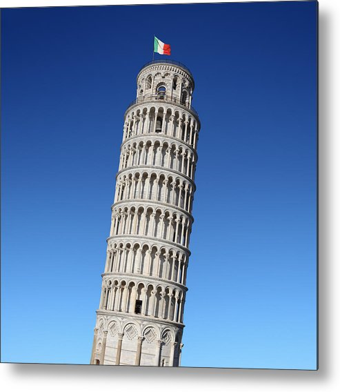Leaning Metal Print featuring the photograph Leaning Tower Of Pisa by Narvikk