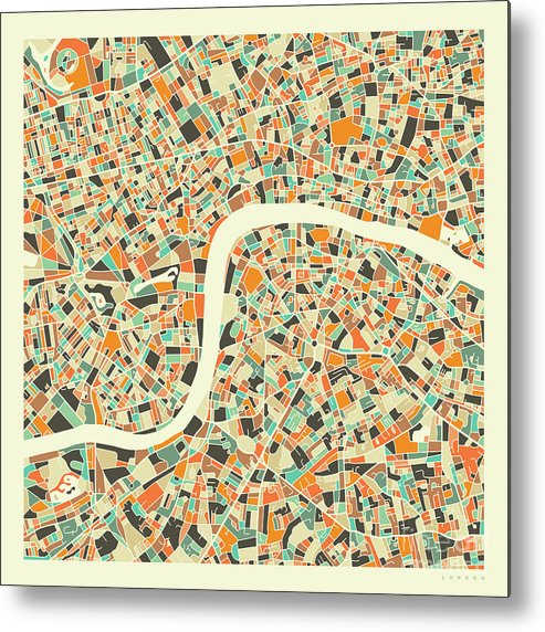 London Metal Print featuring the digital art London Map 1 by Jazzberry Blue