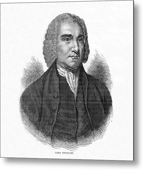 Engraving Metal Print featuring the drawing Lord Thurlow, British Lawyer And Tory by Print Collector