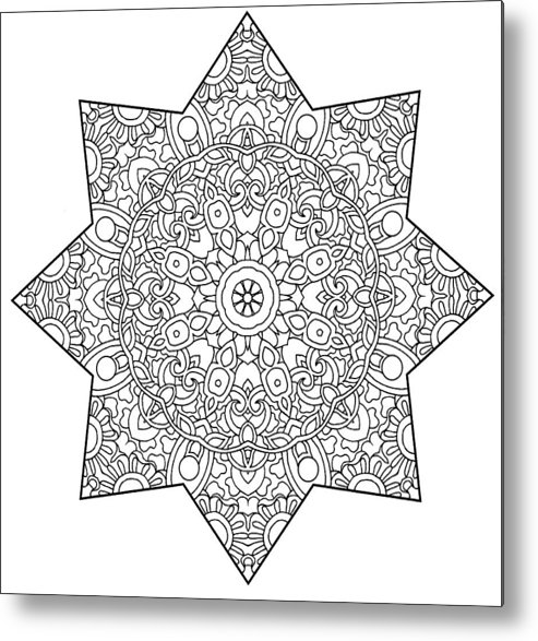 Coloring Books Metal Print featuring the drawing Mixed Coloring Book 1 by Kathy G. Ahrens
