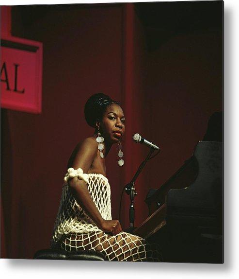 Nina Simone Metal Print featuring the photograph Nina Simone by David Redfern