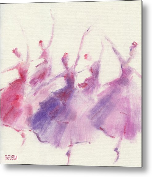 Ballet Metal Print featuring the painting Nutcracker Ballet Waltz Of The Flowers by Beverly Brown Prints