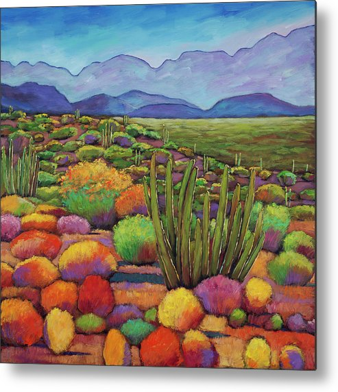 Desert Landscape Metal Print featuring the painting Organ Pipe by Johnathan Harris