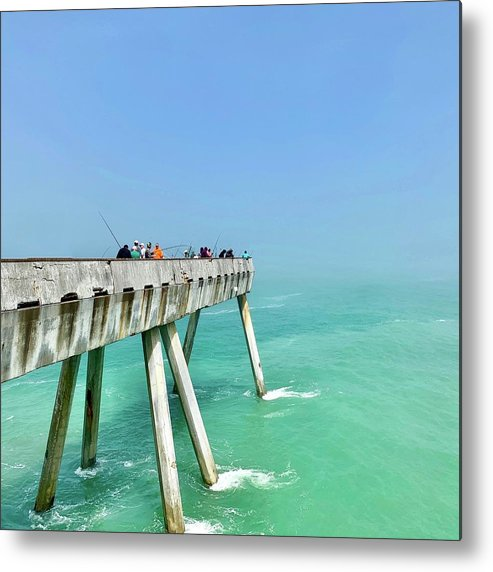 Pier Metal Print featuring the photograph Pacifica Pier 2 by Julie Gebhardt