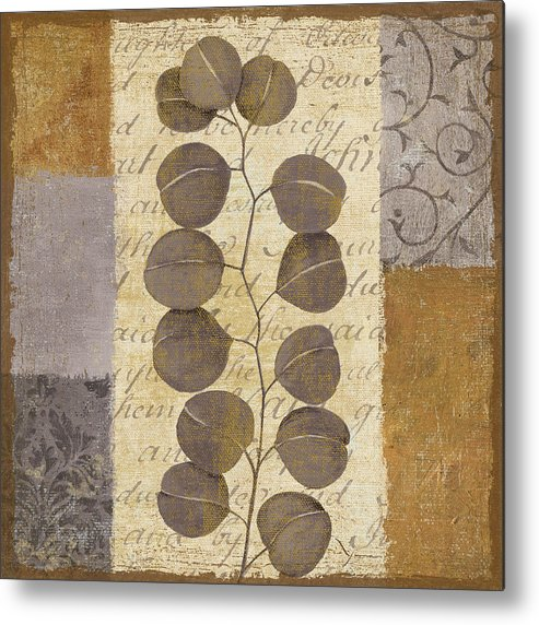 Leaves Metal Print featuring the painting Parchment I by Yuna